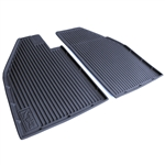 5825 All Weather Floor Mats - Black (fits '58-72)