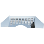 5992 Stainless Steel Firewall - Polished with Louvers (3 pieces)