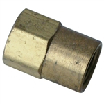 6634 3/16'' American Line to Metric Thread Bubble Flare - Coupler
