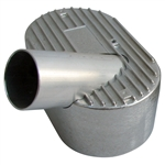 "7615 Aluminum Pressure Cover - right side, 2"" inlet fits Competition Eliminator w/straight manifolds"