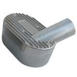 "7616 Aluminum Pressure Cover - left side, 2"" inlet fits Competition Eliminator w/straight manifolds"