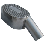 "7618 Aluminum Pressure Cover - left side, 2"" inlet fits low profile applications (Porsche 356)"