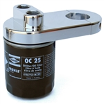 "7703 Polished Billet Oil Filter Adapter (1 1/2"")"