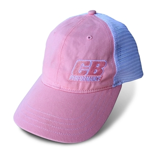 7948 CB Performance Pink-White Mesh Hat (Snapback)