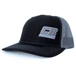 7967 CB Performance Black-Silver Mesh Hat (Pre-Curved Bill)