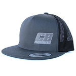 7968 CB Performance Charcoal-Black Mesh Hat (Flat Bill)