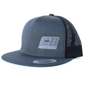 7968 CB Performance Charcoal-Black Mesh Cap (Flat Bill)