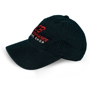 7978 Black Relaxed Hat - Red Speed Shop Logo