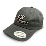 7979 Grey Relaxed Adjustable Hat - Speed Shop Logo
