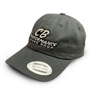 7979 Charcoal Grey Relaxed Hat - Speed Shop Logo