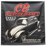 7984 CB Speed Shop Vinyl Banner (4' x 4')