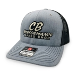 7986 Graphite & White Mesh Hat - Speed Shop Logo (Snapback)