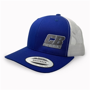 7987 CB Performance Royal Blue-White Mesh Hat (Pre-Curved Bill)