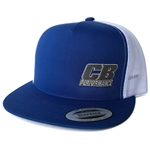 7988 CB Performance Royal Blue-White Mesh Hat (Flat Bill)