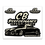 7992 Stickers - CB Performance Ghia Speed Shop Sticker Sheet (each)