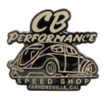 7996 Lapel Pin - CB Speed Shop (Tan Letters)