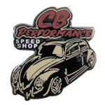 8009 Lapel Pin - CB Speed Shop (Red Letters)