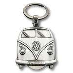 8035 VW Bus Key Ring with Removable Coin in Gift Box (Vintage Silver)