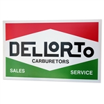 8120 Dellorto Carburetors Sales and Service Vintage Sign