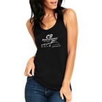 Black Ladies Racerback Tank Top - Karmann Ghia (specify size)