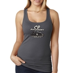 Dark Grey Ladies Tank Top - CB Speed Shop (specify size)