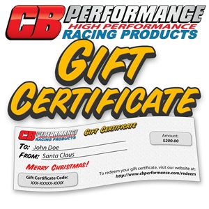 GFT CB Performance Gift Certificate