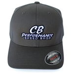 Grey Flexfit Hat - Speed Shop Logo (specify size)