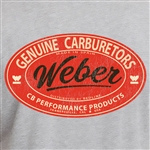 Genuine Weber T-Shirt - Dark Heather Grey (specify size)