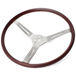 IN-179 Wooden Steering Wheel (Brushed) Flat4