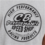 CB Speed Shop Round Logo T-Shirt - Dark Heather Grey (specify size)