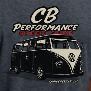 CB Performance Split Window Bus T-Shirt - Charcoal (specify size)