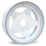 Steel Wheel (White) VW 4 Bolt (specify size)