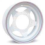 Slotted Steel Wheel (White) VW 5 Bolt (specify size)