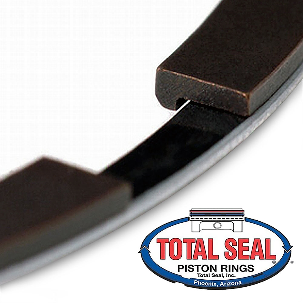 total seal gapless piston rings  size